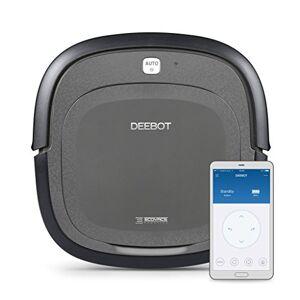 Ecovacs Robotics Deboot Slim 2 Robot Aspirapolvere Deebot, 15 W, 60 Decibel, Controllo con smartphone tramite app, Nero