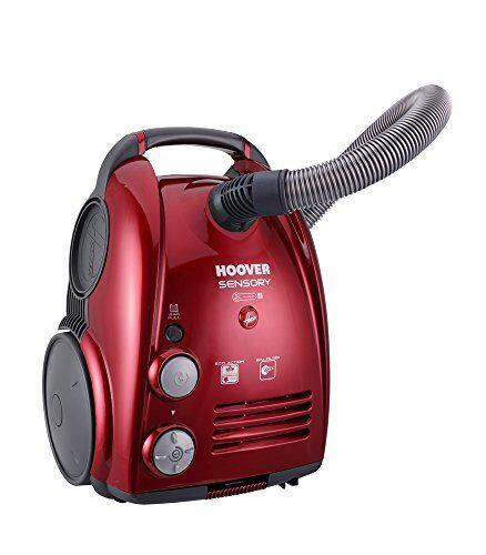 Hoover SN75 Aspirapolvere con Sacco, 700 W, 3.2 Litri, Rosso Metallico