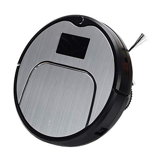 mchpp robot aspirapolvere 3 modalità di commutazione ricarica automatica telecomando sensore anticollisione e intelligente anticaduta, adatto per pavimenti duri, piastrelle e moquette,grigio