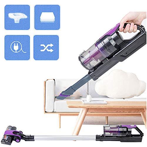 zrzjbx aspirapolvere senza fili potente 15000pa, scopa elettrica portatile, ricaricabile a batteria autonomia, per pulizia di peli animali/pavimenti/tappeti/divano,purple