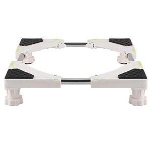 Cinnyi Base regolabile per 4/8 piedi per lavatrice resistente Supporto per frigorifero Base regolabile per uso domestico(4 cuscinetti per i piedi)