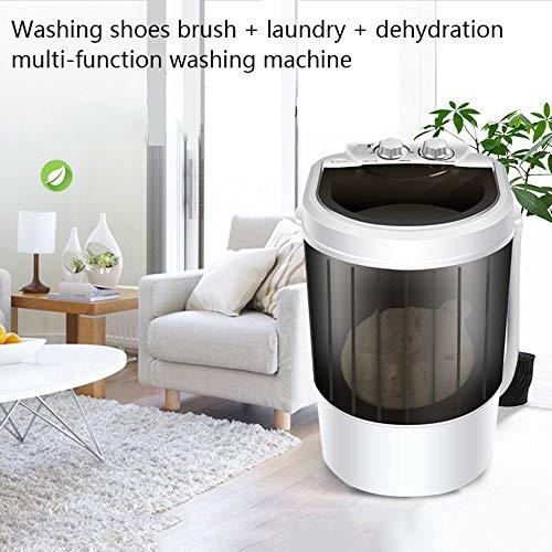 lsslss lavatrice multifunzione per scarpe domestiche, dispositivo di lavaggio intelligente semi-automatico delle scarpe, pulizia e disidratazione temporizzate, facile da operativo