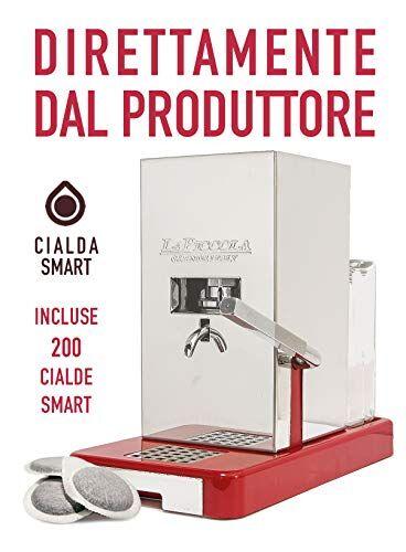 la piccola macchina da caffè a cialde la piccola base rossa smart con 200 cialde smart incluse