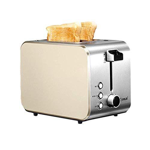 l&wb macchina per il pane a doppia faccia multifunzionale, macchina per pane per tutti i tipi di pane a 7 gradi di colore - macchina per pane a casa 2 fette per colazione,a