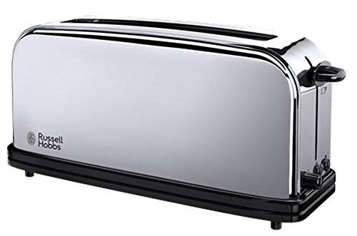 Russell Hobbs 23510-56 Tostapane Lungo in Acciaio Chester 1200 W, 2 fette Funzione Defrost