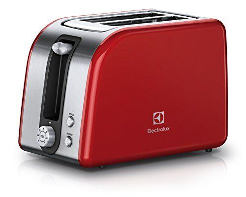 Electrolux EAT7700R Tostapane Plus, 850 W, Acciaio Inox Spazzolato/Rosso