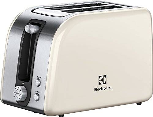 Electrolux EAT7700W Tostapane Plus, 850 W, Acciaio Inox Spazzolato/Bianco