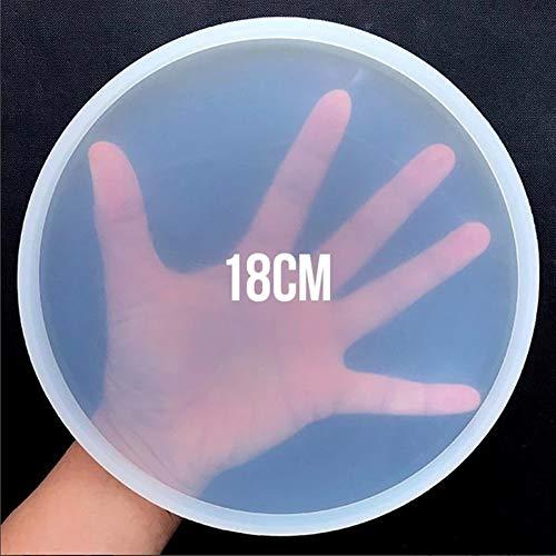 ZANGAO Turno Petri stampo in silicone piatto Coaster rotonda che fa i rifornimenti resina epossidica d'arte Crea il Tuo Coaster Epoxy Resin Stampi (Color : 01)