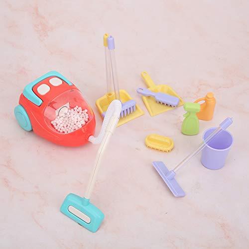 Liyeehao Aspirapolvere giocattolo, suono luminoso per bambini Aspirapolvere giocattolo per far giocare i bambini(vacuum cleaner)