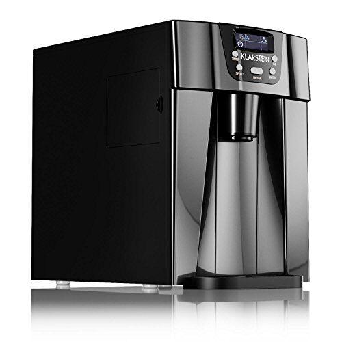 Klarstein Ice Volcano 2G • macchina per il gelato • 12 kg/24 h • 2 dimensioni di cubo • preparazione in 6-12 min • Dispenser • Timer • Display LCD • illuminazione a LED • silenzioso • plastica • nero