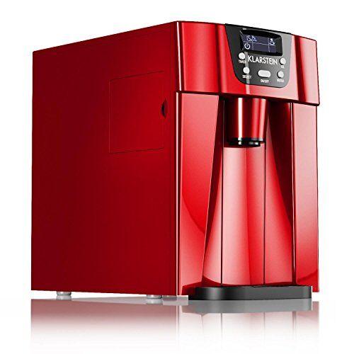 Klarstein Ice Volcano 2G • macchina per il gelato • 12 kg/24 h • 2 dimensioni di cubo • preparazione in 6-12 min • Dispenser • Timer • Display LCD • illuminazione a LED • silenzioso • plastica • rosso
