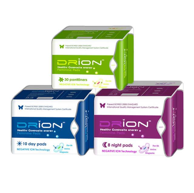 Drion Assorbenti Drion - giorno + notte + salvaslip - cotone biologico e ioni negativi