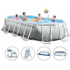 piscine italia piscina fuori terra intex prism frame ovale 26796 503x274x122cm