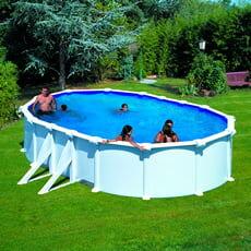 piscine italia piscina fuori terra gre in acciaio ovale 500x300x1,32 atlantis kitprov508