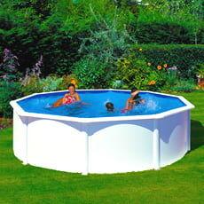 piscine italia piscina fuori terra gre in acciaio rotonda 460x1,20 fidji kit460eco