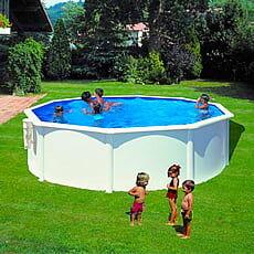piscine italia piscina fuori terra gre in acciaio rotonda 350x1,20 bora bora kitpr353