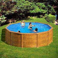 piscine italia piscina fuori terra gre in acciaio rotonda 350x1,32 mauritius new 2020 kitpr358wo