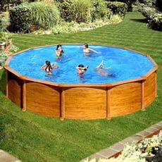 piscine italia piscina fuori terra gre in acciaio rotonda 550x1,32 mauritius kitpr558wo