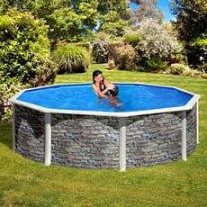 piscine italia piscina fuori terra gre in acciaio rotonda 460x1,32 corcega new 2020 kitpr458po