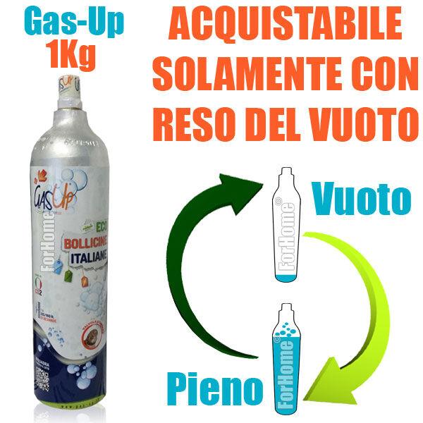 Servizio Ricarica Bombola Co2 Da 1kg A Domicilio Gas-Up (Per Sistemi Di Gasatura