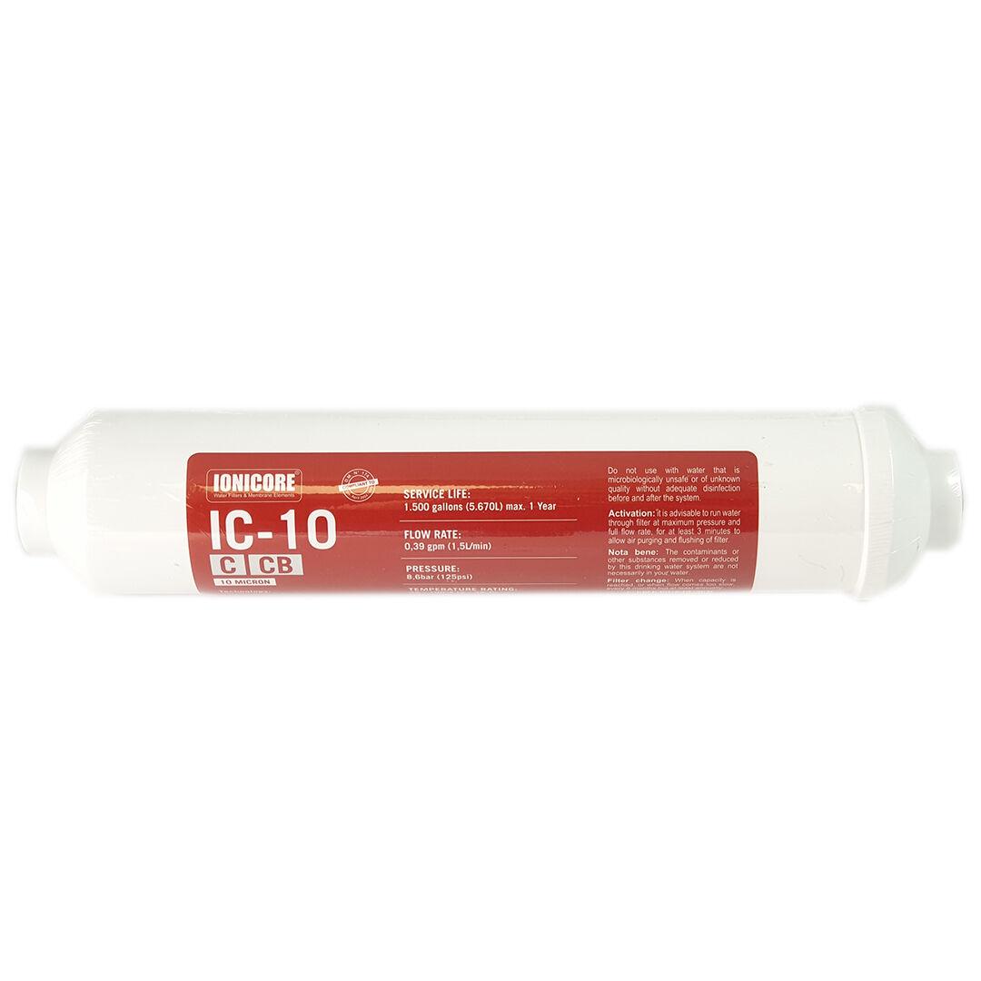"""Filtro In Linea Carbon Block (Cb) Al Cocco Ionicore Ic-10ccb - 1/4"""" Fpt 2""""X10"""" -"""