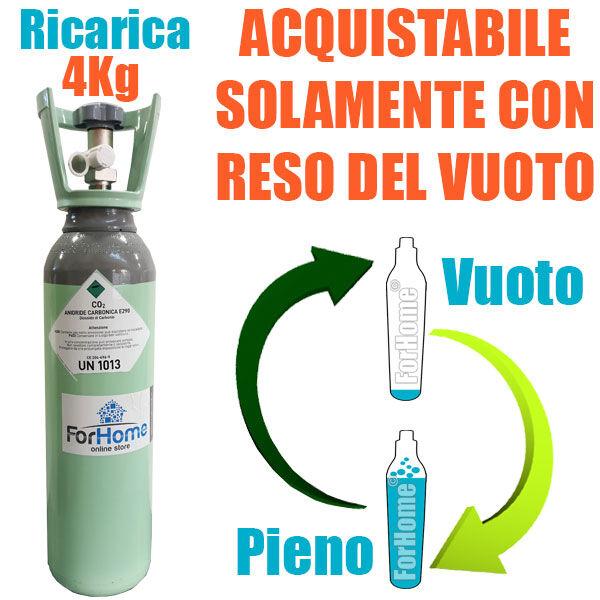 Servizio Ricarica Bombola Co2 Da 4kg A Domicilio Con Valvola Residuale Certifica