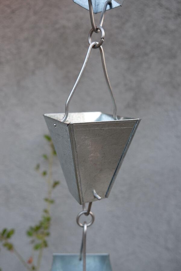 Catena Per Pioggia A Coppa Alluminio Per Grondaia Forhome® - Fluidibilità 3,5/5