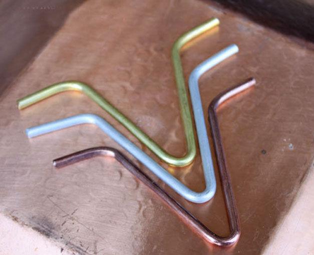 Gancio Di Connessione Catene Pioggia Diretto A Grondaia Mod. V-Hook Alluminio Fo