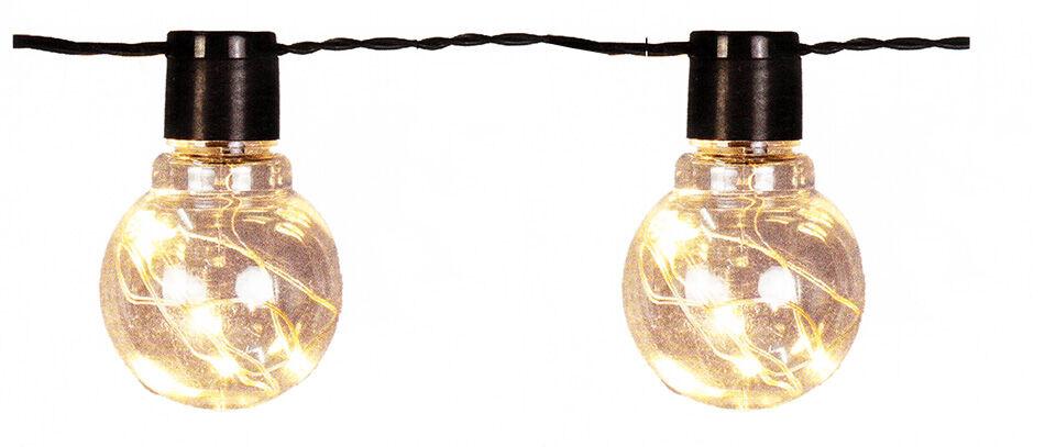 Catena Luminosa 20 Bulb Gocce Led Bianco Caldo, Feste Giardino Casa Eventi Matri
