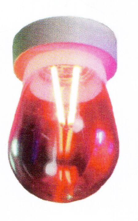 Lampadina Led Goccia Design Attaco E27 Colore Rosso 2w
