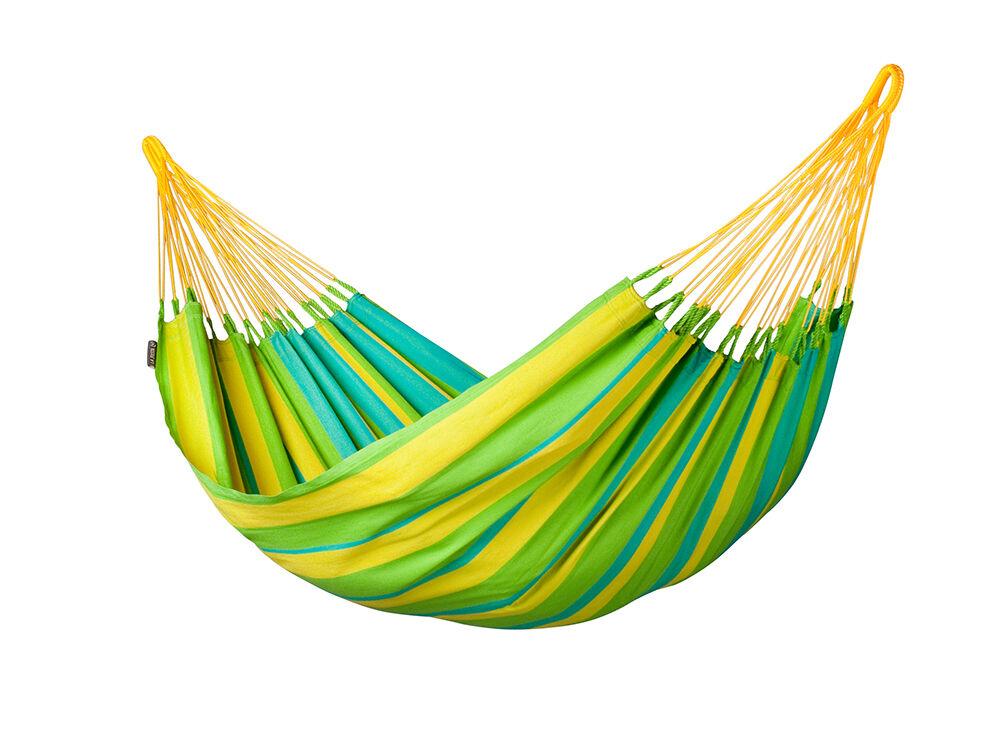 amaca da giardino casa sonrisa lime verde gialla (ds)