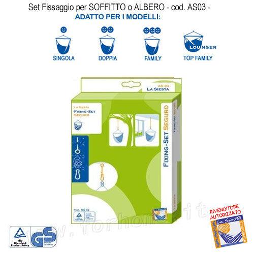Fissaggio Per Amache Sospese Pensili Kit Per Soffitto O Albero As03 (Fs)