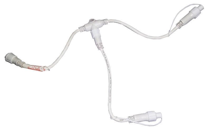 Connettore A T M/f/f Bianco Attacco Gpl System Per Luci Natale Led Professionali