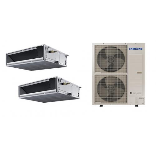 Samsung Climatizzatore SAMSUNG Dualsplit CANALIZZABILE MEDIA PREVALENZA 24000 + 24000 BTU R-410 TRIFASE