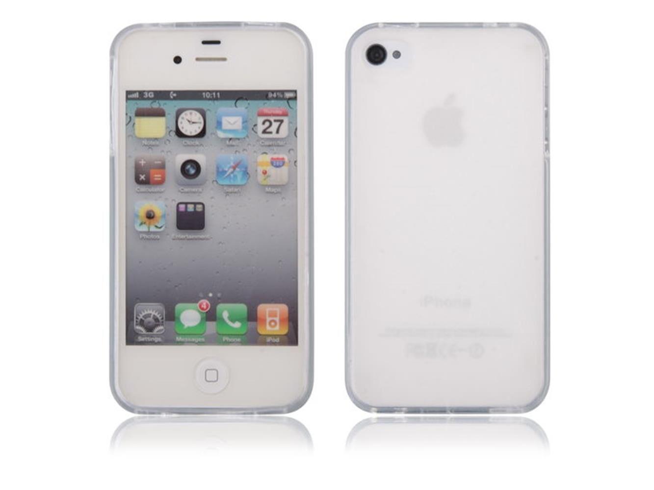 custodia cover in silicone per apple iphone 4 - 4s