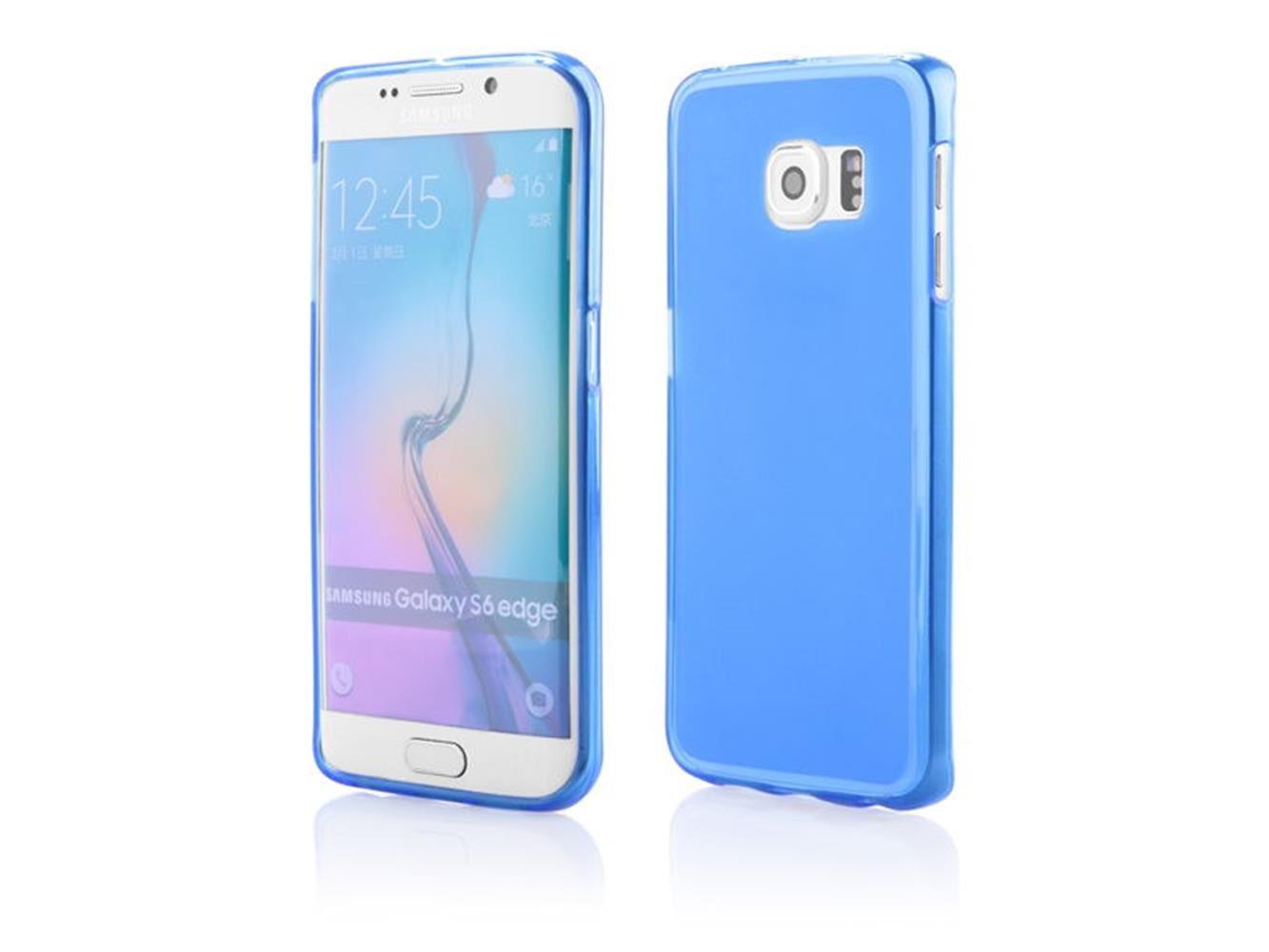 Custodia Cover In Silicone Per Samsung Galaxy S6 Edge - Pellicola In Omaggio