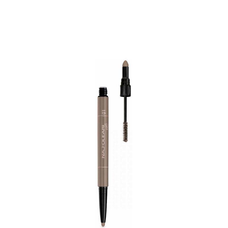 naj-oleari 3in1 perfect brow - matita e mascara sopracciglia n. 01 bionde