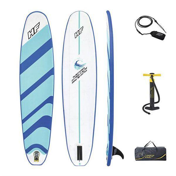 bestway tavola da surf gonfiabile hydro-force compact surf 8 243x57x7 cm 65336