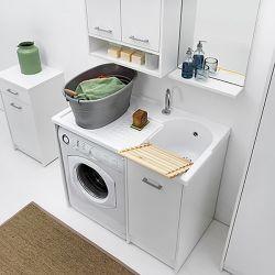 colavene lavatoio copri lavatrice con vasca destra domestica 106x50x90 dl1051b