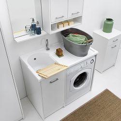 colavene lavatoio copri lavatrice con vasca sinistra domestica 106x50x90 dl1052b