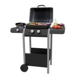 Ke Grill Barbecue a Gas con 2 Bruciatori + 1 Bruciatore Laterale Gordon Burner