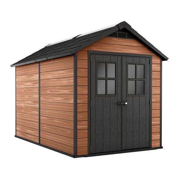 keter casetta da giardino in resina newton woodshield 7511 k241888
