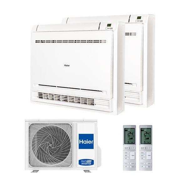 HAIER Climatizzatore Dual Console 12000+12000 Con 2u50s2sm1fa R-32 A++/a+ 12+12