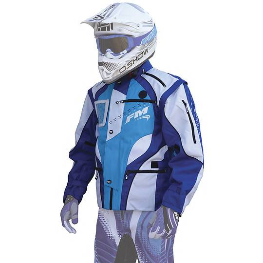 Fm racing Giacca tecnica moto cross enduro fm racing enduro hydro jacket blu