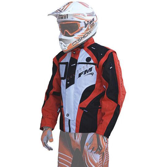 fm racing giacca tecnica moto cross enduro fm racing enduro hydro jacket arancio