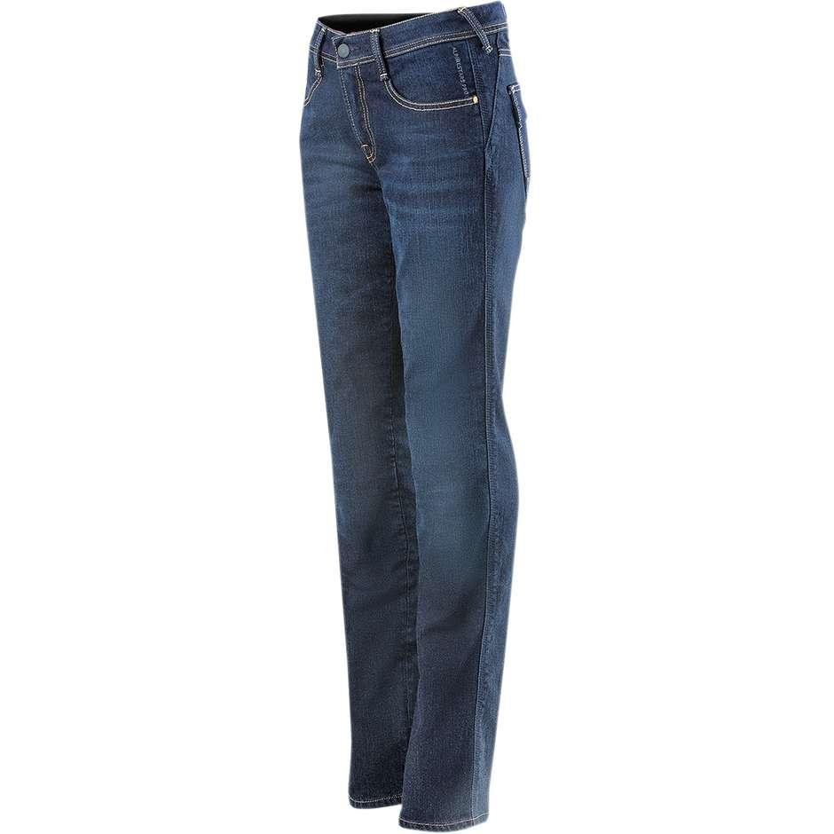 alpinestars jeans donna pantaloni moto alpinestars stella angeles denim mid tone blu