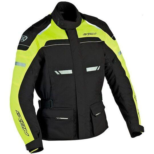 ixon giacca moto ixon tecnico 4 stagioni fjord impermeabile nero/giallo vivo