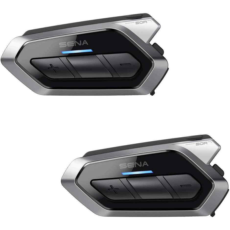 sena interfono moto bluetooth sena 50r kit coppia con collegamento mesh intercom 2.0