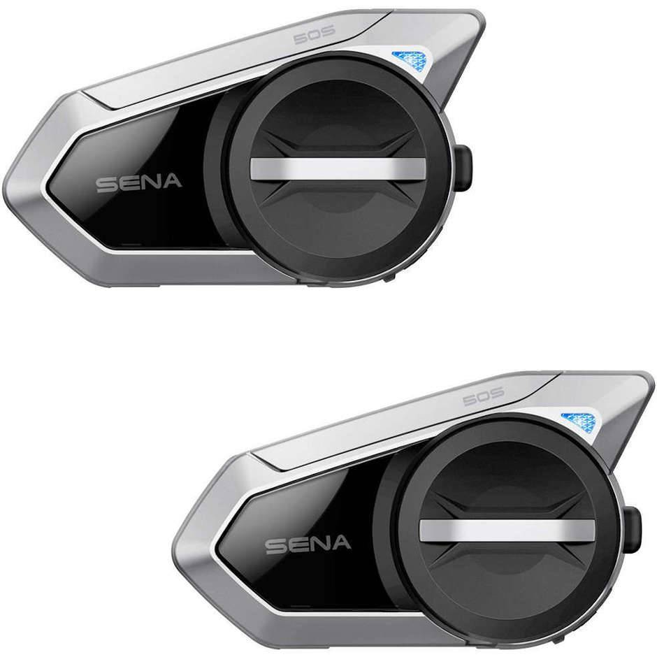 sena interfono moto bluetooth sena 50s kit coppia collegamento mesh intercom 2.0