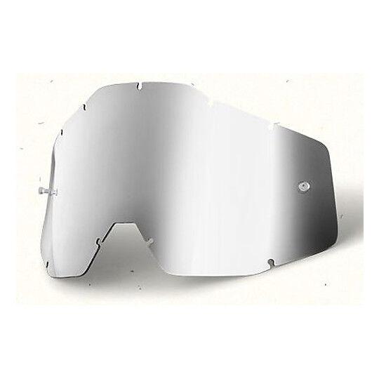 100% lente bambino mirror silver originale per occhiali  racecraft accuri e strat